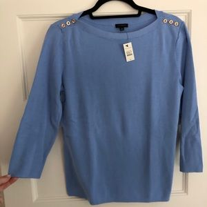 NWT Talbots gold button detailed sweater